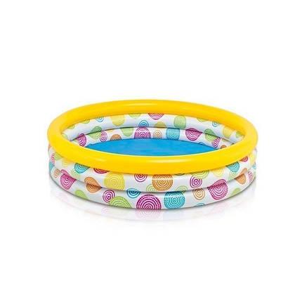 Детский надувной бассейн Intex 59419 «Геометрия», 114 х 25 см , фото 2