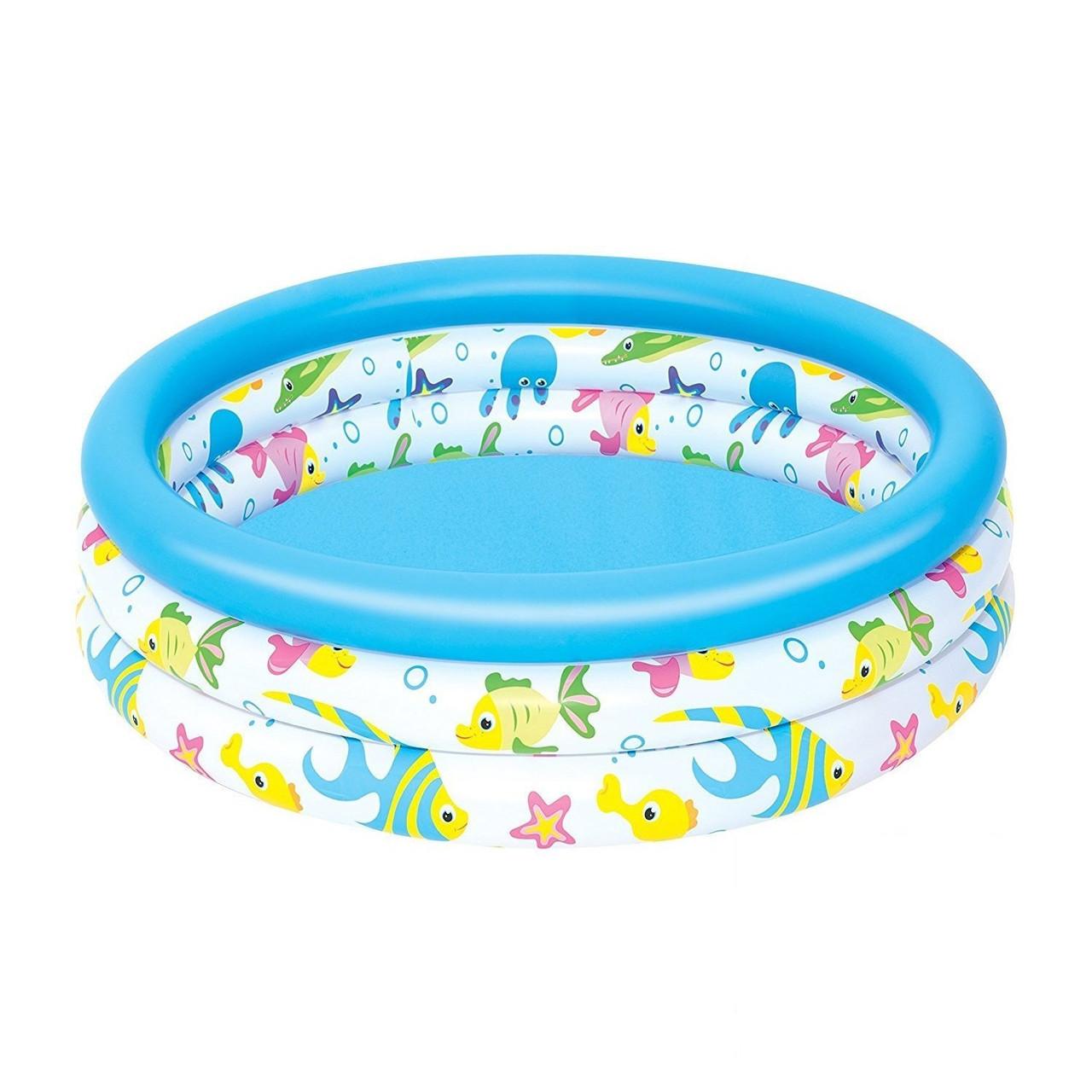 Детский надувной бассейн Bestway 51008 «Океан», 102 х 25 см