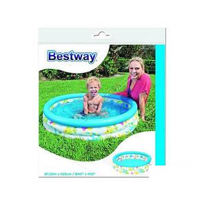 Детский надувной бассейн Bestway 51008 «Океан», 102 х 25 см , фото 2