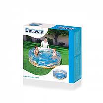 Детский надувной бассейн BestWay 51045 «Морской мир», 150 х 53 см , фото 2