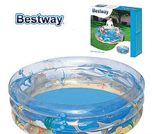 Детский надувной бассейн BestWay 51045 «Морской мир», 150 х 53 см , фото 3