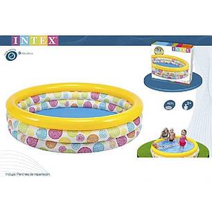 Детский надувной бассейн Intex 58449 «Геометрия», 168 х 38 см , фото 2