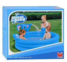 Детский надувной бассейн BestWay 53048 «Слоник» с фонтаном, 152 х 152 х 74 см , фото 3