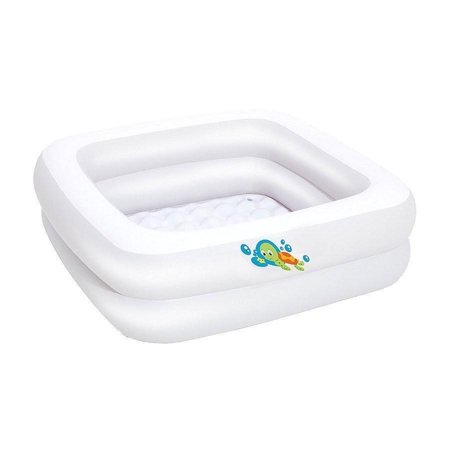 Детский надувной бассейн Bestway 51116, белый, 86 х 86 х 25 см надувное дно