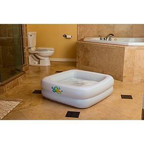 Детский надувной бассейн Bestway 51116, белый, 86 х 86 х 25 см надувное дно, фото 2