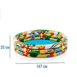 Детский надувной бассейн Intex 58915 «Винни Пух», 147 х 33 см , фото 2