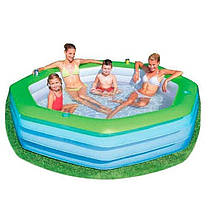 Детский надувной бассейн BestWay 54119, 251 х 251 х 51 см, фото 2
