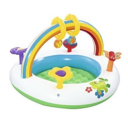 Детский надувной центр Bestway 52239 «Радуга», 94 х 56 см, с игрушками , фото 2