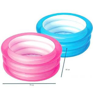 Детский надувной бассейн BestWay 51033, голубой, 70 х 30 см , фото 2