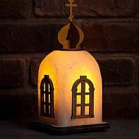 """Соляная лампа светильник """"Церковь"""""""