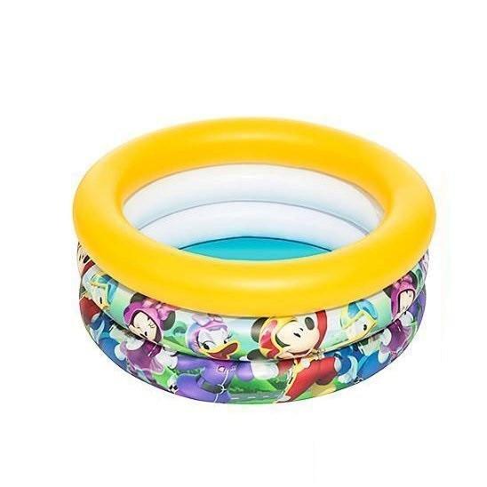 Детский надувной бассейн Bestway 91018 «Микки Маус», 70 х 30 см (желтый)