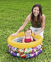 Детский надувной бассейн Bestway 91018 «Микки Маус», 70 х 30 см (желтый) , фото 2