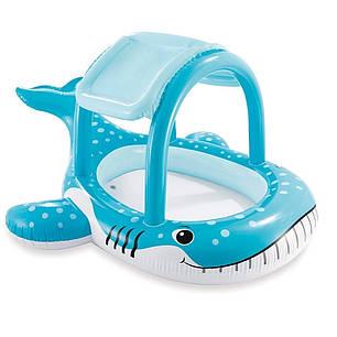 Детский надувной бассейн «Кит» Intex 57125, голубой, с навесом, 211 х 185 х 109 см , фото 2