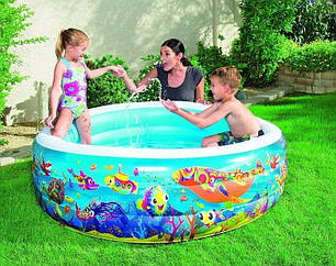 Детский надувной бассейн BestWay 51122 «Аквариум», 196 х 53 см , фото 2