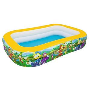 Детский надувной бассейн Bestway 91008 «Микки Маус», 262 х 175 х 51 см, фото 2