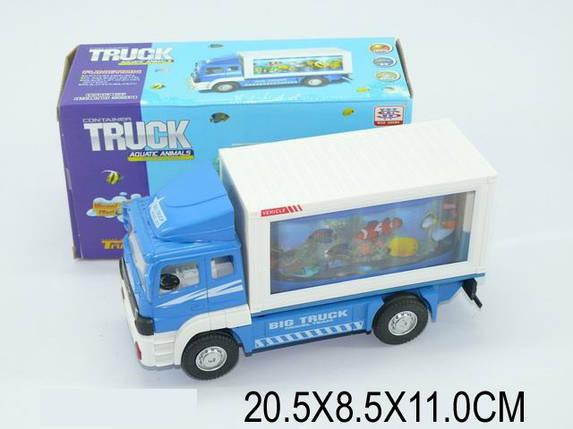 Машина-грузовик, батар., свет, звук, в кор. 20х8х11 /96-2/, фото 2