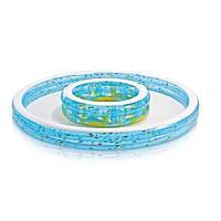 Детский надувной бассейн Intex 57143 «Колодец желаний» с фонтаном, 279 х 36 см