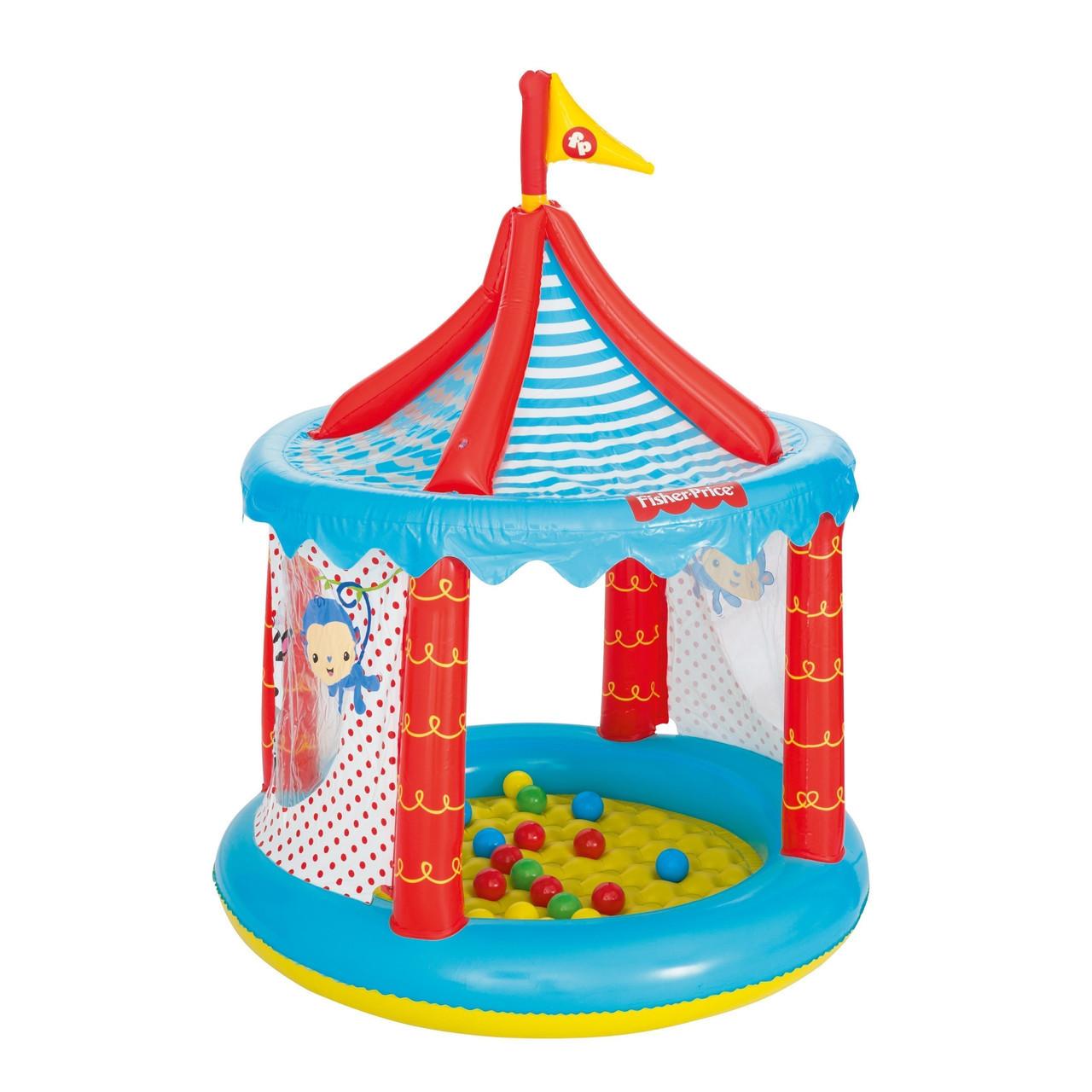 Детский игровой домик Bestway 93505 «Цирк», 137 х 104 см, с шариками 25 шт