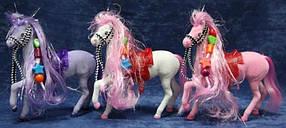"""Лошадь 661 """"В мире животных"""" 7"""" флок., 3 цв., кул., 18*22 ш.к. /216/"""