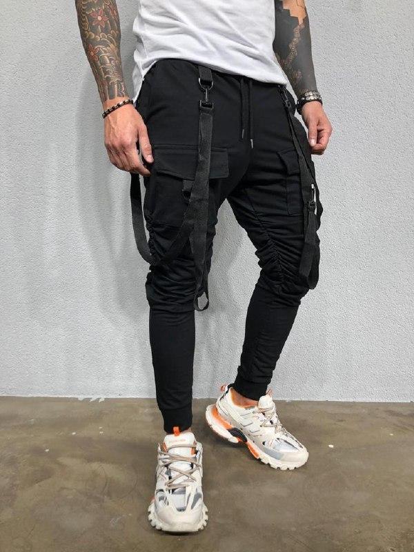 Мужские спортивные штаны (черные) - Турция
