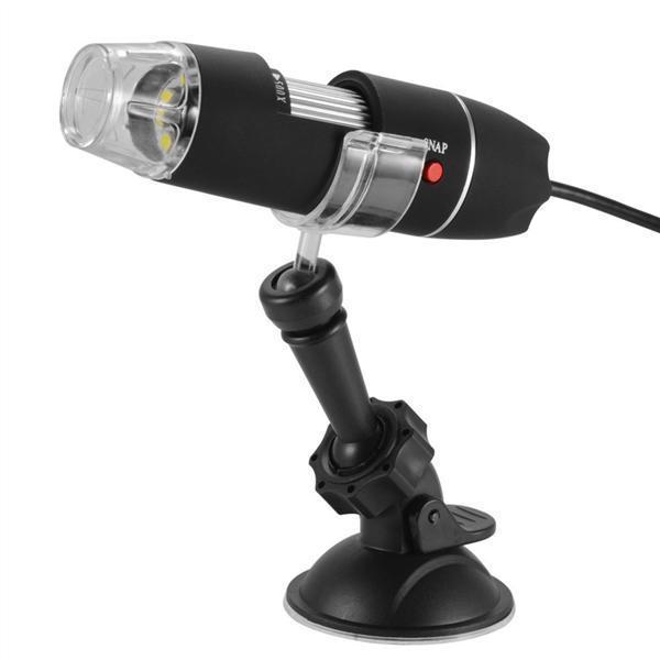 Цифровой USB микроскоп 1600Х на стойке с присоской