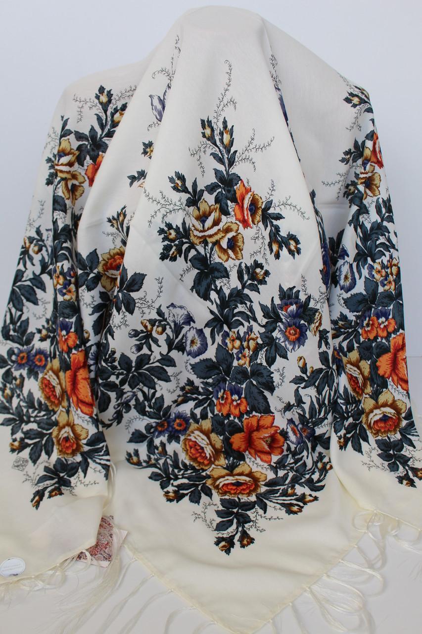 Платок шерстяной павлопосадский (120см) 607033