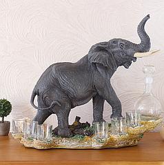 Штоф слон 44 см ШП401 кол
