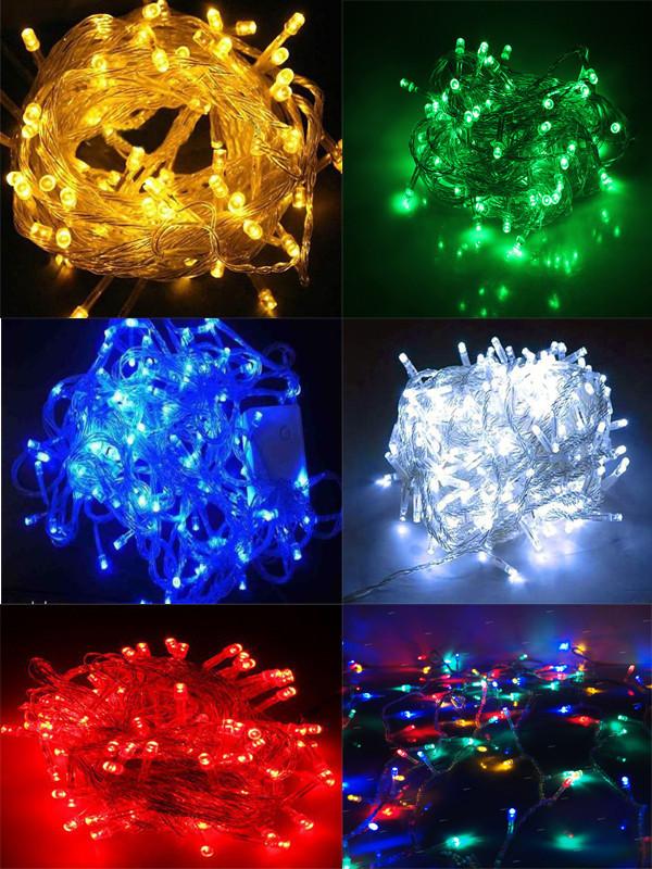 Гирлянда 200-LED цветная, белая или синяя цвета (есть черний или белий провод)