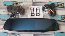 Видеорегистратор зеркало с камерой заднего вида 2 камеры DVR HD экран справа от водителя Гарантия! Оригинал, фото 3