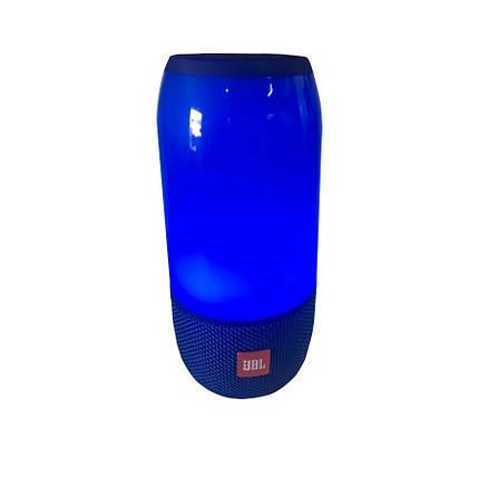 Колонка портативная беспроводная JBL Pulse 3, Большая влагозащитная Bluetooth Синяя с светомузыкой, Lux копия, фото 2