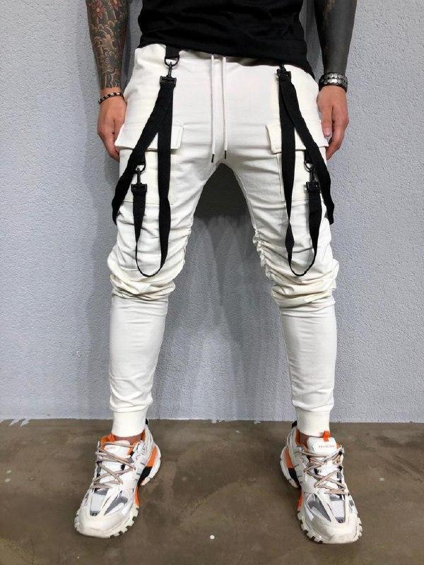Мужские спортивные штаны (белые) - Турция