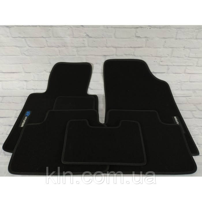 Премиум коврики в салон автомобиля текстильный  Hyundai і 30 II 2012-2019  Beltex черный premium
