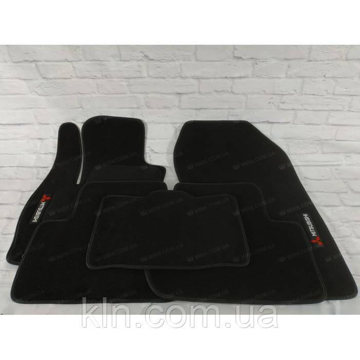 Премиум коврики в салон автомобиля текстильный Mitsubishi Outlander 3 МКП 2012-  Beltex черный premium