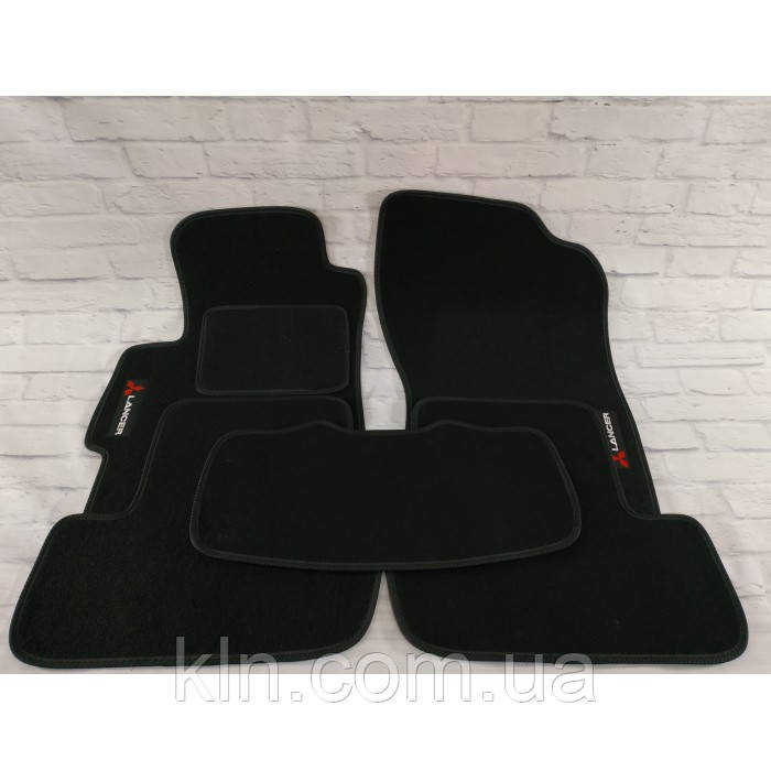 Премиум коврики в салон автомобиля текстильный  Mitsubishi Lancer X  АКП SD 2007-2018  Beltex черный premium