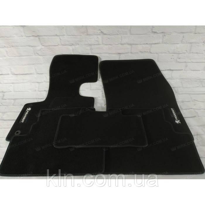 Премиум коврики в салон автомобиля текстильный Peugeot 3008 II 2016- (5шт.)  Beltex черный premium
