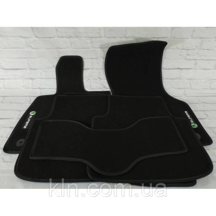 Премиум коврики в салон автомобиля текстильный Skoda Super B III 2015-  Beltex черный premium
