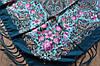 Платок шерстяной павлопосадский (120см) 607044, фото 3