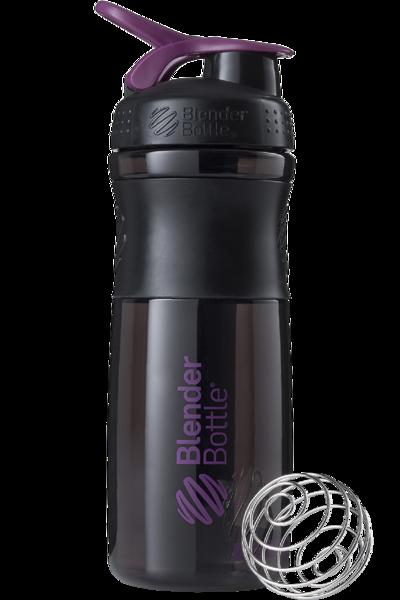 Спортивная бутылка-шейкер BlenderBottle SportMixer 820ml Black/Plum (ORIGINAL)