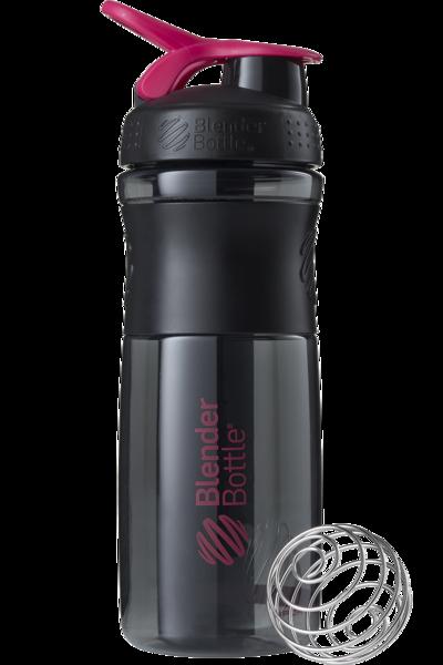 Спортивная бутылка-шейкер BlenderBottle SportMixer 820ml Black/Pink (ORIGINAL)