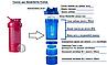 Шейкер спортивный BlenderBottle ProStak 650ml с 2-мя контейнерами Pink FL (ORIGINAL), фото 4