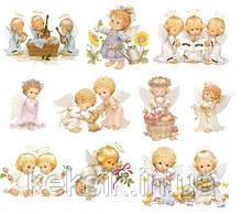 Вафельная картинка для Cupcake Ангелочки 2