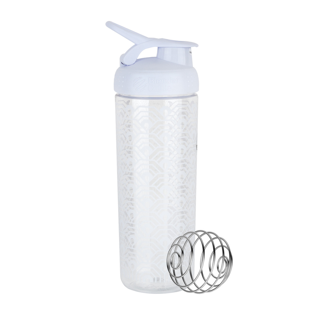 Спортивная бутылка-шейкер BlenderBottle SportMixer Signature Sleek WHITE CLAMSHELL 820мл (ORIGINAL)