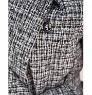 / Размер 50-52,54-56,58-60 / Женский стильный и теплый осенний кардиган с воротником на запах 41119-Графит, фото 3