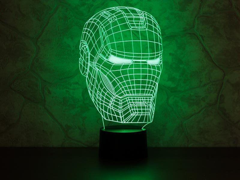 3D светильник Железный человек светильник-ночник