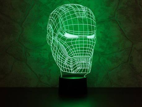 3D светильник Железный человек светильник-ночник, фото 2