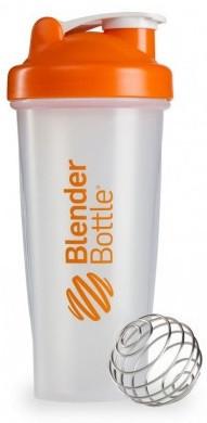 Шейкер спортивный BlenderBottle Classic 28oz/820ml прозрачный/оранжевый (ORIGINAL)