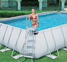 Каркасный бассейн Bestway 56471 - 1, 671 х 366 х 132 см (лестница, тент, подстилка) , фото 3