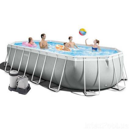 Каркасный бассейн Intex 610 x 305 x 122 см (насос фильтр 5 678 л/ч, лестница, тент, подстилка), фото 2