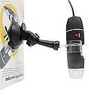 Цифровой USB OTG микроскоп 1600Х на стойке с присоской. USB микроскоп для смартфона, фото 5