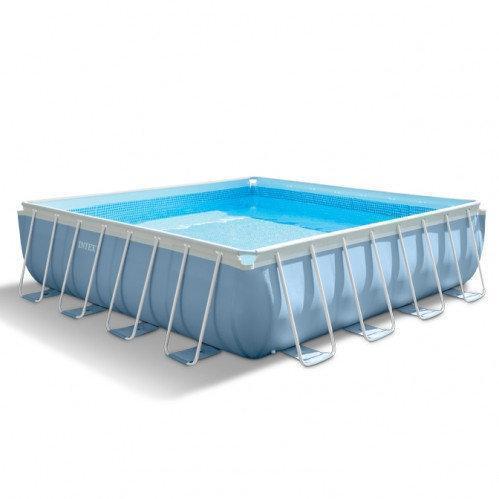 Каркасный бассейн Intex 28766 - 1, 488 x 488 x 122 см (лестница, тент, подстилка)